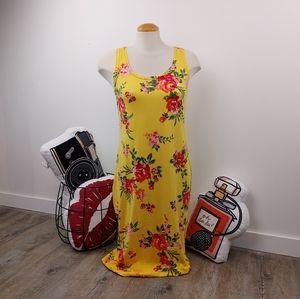 MAGAZINE | Yellow Floral Sleeveless Dress